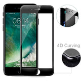iPhone 7/8 Plus - Tempered Glass Screen Protector - HD Clear - 5D Curved - Full Cover - Black