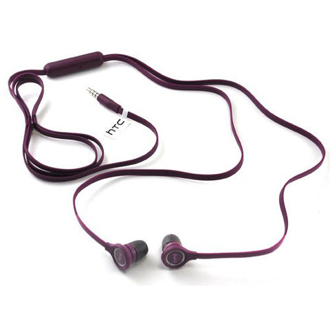 HTC Original Earphones Flat Headphone - Wired Earbuds - In-Ear - 39H0001-00M - Purple