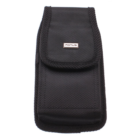 Case Belt Clip Canvas Rugged Holster - LCASE65 - Black - Fonus C48