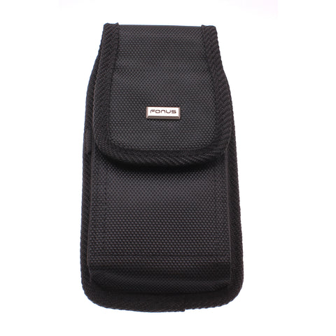 Case Belt Clip Canvas Rugged Holster - LCASE66 - Black - Fonus A66