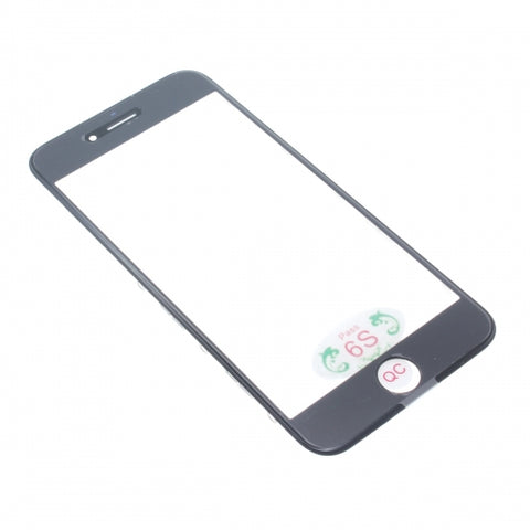 Outer Front Glass Lens Replacement with Bezel Frame for iPhone 6S - Black - L50