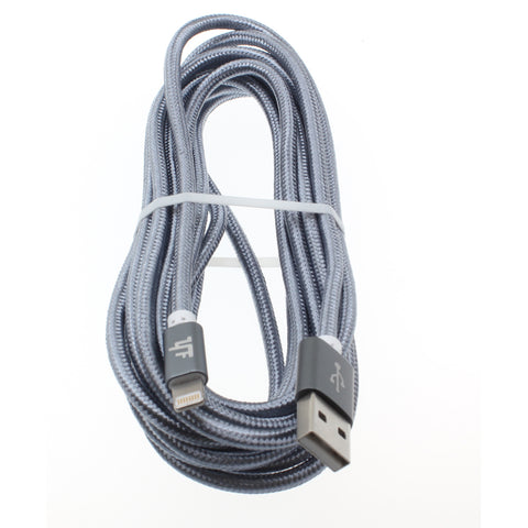 10ft MFI Certified USB to Lightning Cable - Braided - Gray - Pinyi - R27