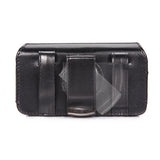 Leather Case Belt Clip Swivel Holster Cover - LCASE19 - Black - Fonus E55