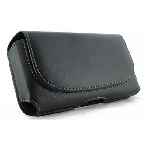 Leather Case Belt Clip Holster Cover - LCASE08 - Black - B08