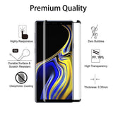 Samsung Galaxy Note 9 - Tempered Glass Screen Protector - HD Clear - 5D Curved - Full Cover