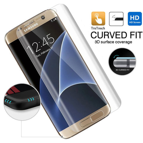 Samsung Galaxy S7 - Screen Protector Silicone TPU Film - Curved - Full Cover - HD Clear