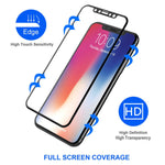 iPhone X/XS/11 Pro - Tempered Glass Screen Protector - HD Clear - 5D Curved - Full Cover