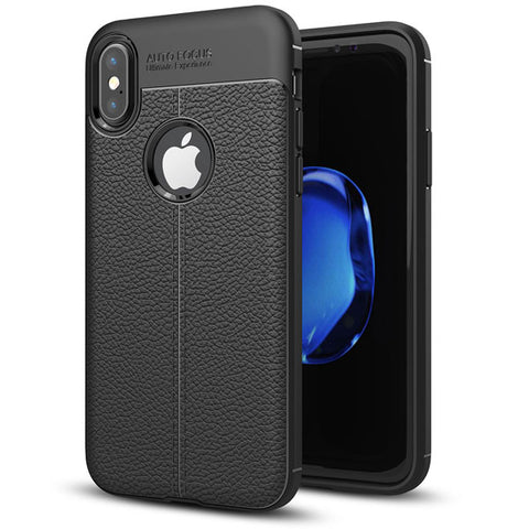 Ultra Slim TPU Leather Case Cover - Shock Absorbent - Black - Fonus L30