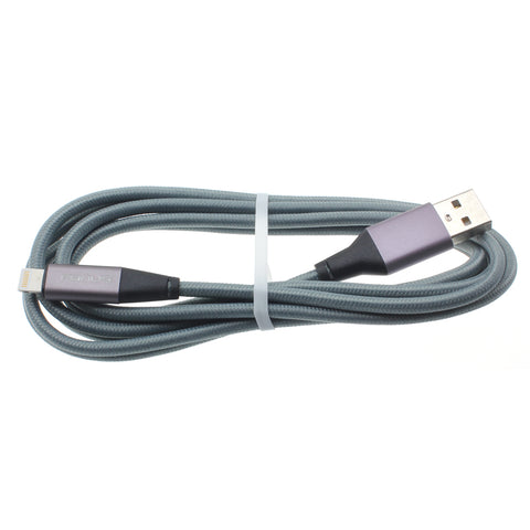 6ft USB to Lightning Cable - Braided - Gray - K88