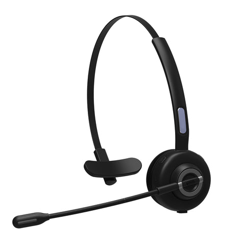 Over The Head Wireless Headphone with Boom Microphone - Black - D85