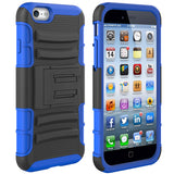Hybrid Case Rugged Holster Swivel Belt Clip - DropProof - Defender - Blue - Selna N06