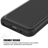 Hybrid Case Dual Layer Armor Defender Cover - Shockproof - Black - Selna L16