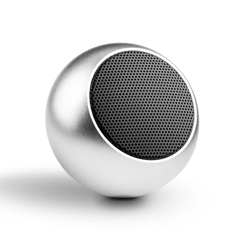 Mini Wireless Speaker - Hands-free Mic - Remote Selfie Shutter - Silver - K85