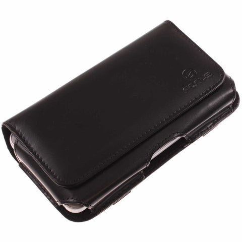 Leather Case with Swivel Belt Clip - LCASE68 - Black - Fonus M30