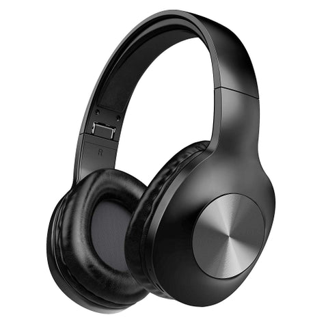 Over the Head Wireless Headphones Folding Headset - Black - L82