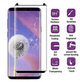 Samsung Galaxy S9 - Anti-glare Screen Protector Tempered Glass - Full Cover - Fingerprint Resistant