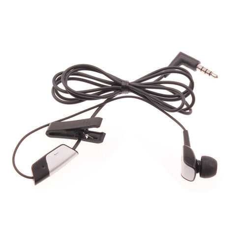 Blackberry OEM Mono Earphone 3.5mm Headphone - In-Ear - Single Earbud - Black