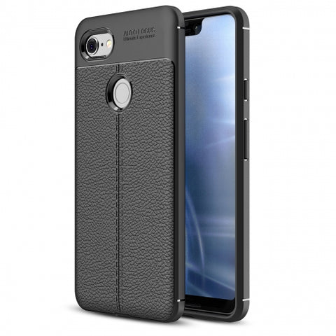 Ultra Slim TPU Leather Case Cover - Shock Absorbent - Black - Fonus V04