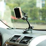 Car Mount Holder for Dash Windshield - Easy One Hand Operation - Fonus M86