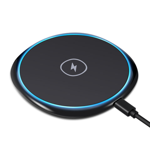 Ultra Slim Wireless Charger Fast Charging Pad - Non-Slip - Fonus R86