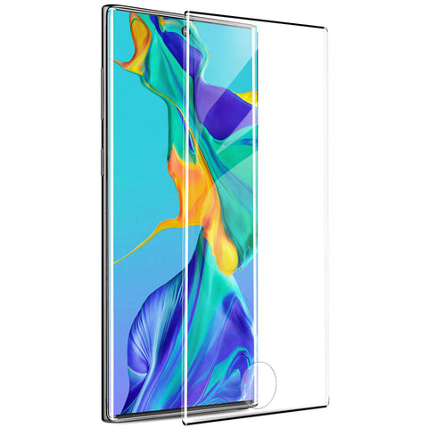 Samsung Galaxy Note 10 - Tempered Glass Screen Protector - 3D Curved - Full Cover - Fingerprint Unlock