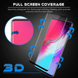 Samsung Galaxy S10 5G - Tempered Glass Screen Protector - Full Cover Curved - Fingerprint Unlock