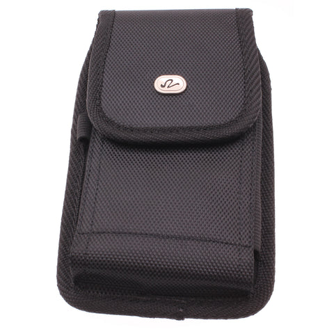 Case Belt Clip Canvas Rugged Holster - Vertical Cover - LCASE44 - Black - J25