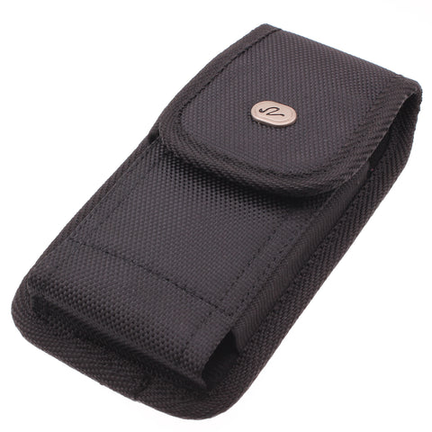 Case Belt Clip Canvas Rugged Holster - Vertical Cover - LCASE43 - Black - J23