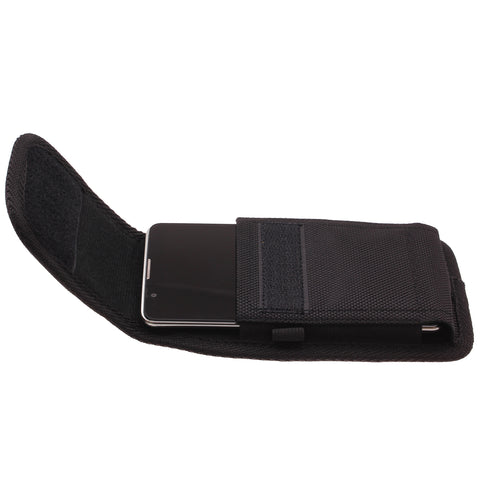 Case Belt Clip Canvas Rugged Holster - Vertical Cover - LCASE45 - Black - C83