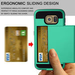 Hybrid Case Dual Layer Armor Bumper Cover - ID Card Slot - Green - Selna N14