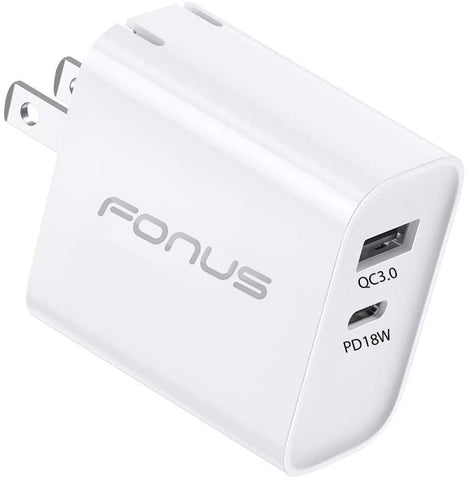 36W PD Home Charger Fast 2-Port USB Type-C Port - Fonus