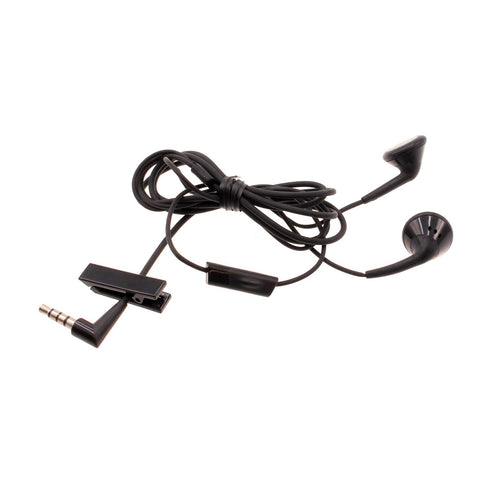 Blackberry OEM Earphones 3.5mm Headphones Wired Earbuds - HDW-24529-001 - Black