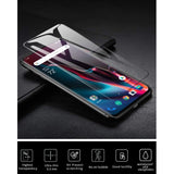 OnePlus 7 Pro - Tempered Glass Screen Protector - Full Cover Curved - Fingerprint Unlock