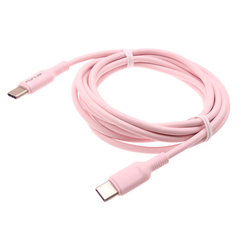 6ft PD Cable USB-C to Type-C Fast Charger Cord - Pink - Fonus - B43