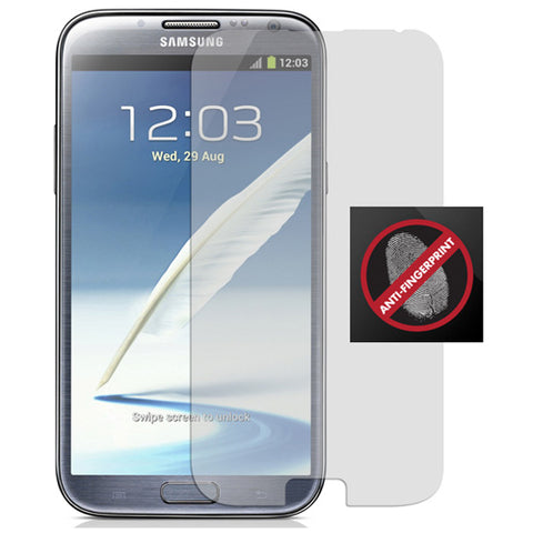 Samsung Galaxy Note 2 - Anti-glare Screen Protector TPU Film - Fingerprint Resistant