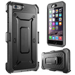 Hybrid Case Rugged Holster Swivel Belt Clip - Built-in Screen Protector - Black - Selna N33