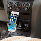 Car Mount Holder for DC Lighter Socket - 2A Charger USB Port - Fonus M50