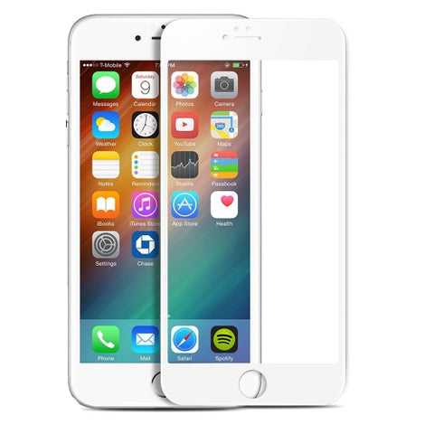 iPhone 7/8 Plus - Ceramics Screen Protector 3D Curved - Full Cover - Shutter Proof - White