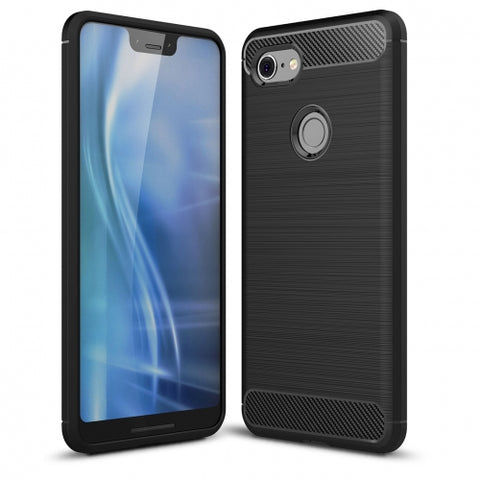 Ultra Slim Carbon Fiber Case Cover - Shockproof - Black - Fonus L26