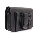 Leather Case Belt Clip Swivel Holster Cover - LCASE18 - Black - Fonus C90