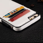 Leather Case Luxury Wallet Cover Credit Card ID Slot Stand - White - Selna N21