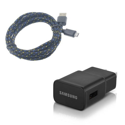 Samsung OEM Adaptive Fast Home Charger 6ft Long Cable - Micro USB