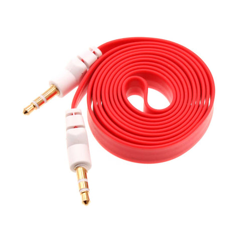 Red Flat Aux Cable Car Stereo Wire