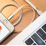 6ft USB to Lightning Cable - Zinc Alloy - Flat - White - S77