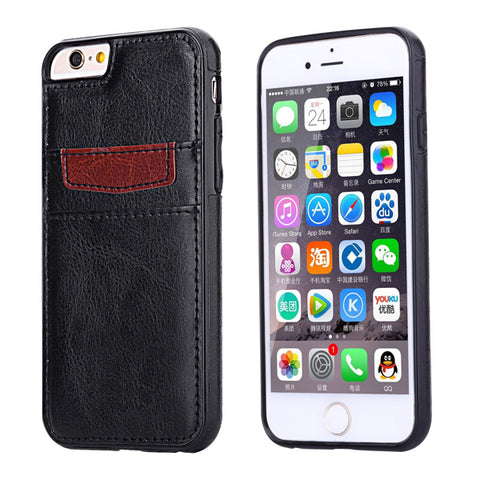 Black Leather Phone Case