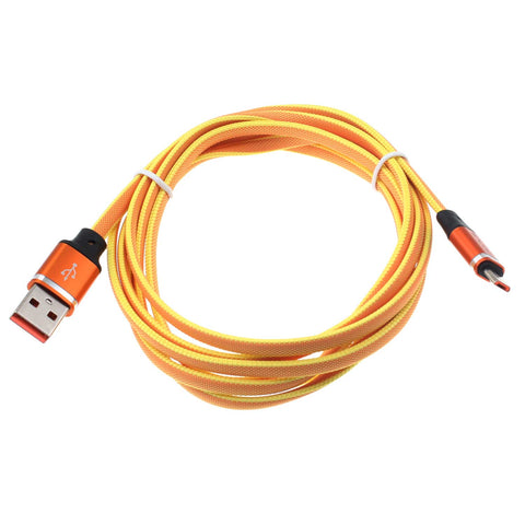 6ft USB Cable Orange MicroUSB Charger Cord Power Wire