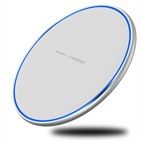 15W Wireless Charger Fast Charging Pad Slim Quick Charge White