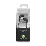 Earphones 3.5mm Headphones Wired Earbuds - In-Ear - Black - Fonus K01