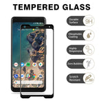 Google Pixel 2 XL - Tempered Glass Screen Protector - HD Clear - Curved - Full Cover