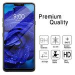 LG G7 ThinQ - Tempered Glass Screen Protector - HD Clear - Curved - Full Cover